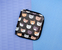 Black Cat Faces Short Wallet