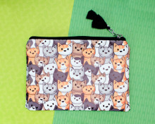 Clowder of Cats Zip Pouch