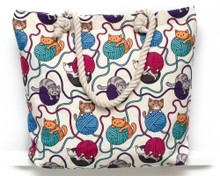 Cats and Yarn Bag