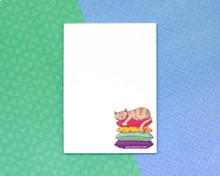 Sleepy Cushion Cat - A6 Notepad