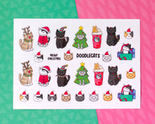 Christmas Cats - A6 Sticker sheet