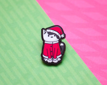 Santa Cat - Christmas Acrylic Pin
