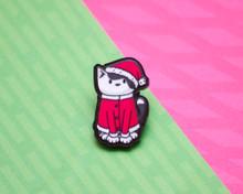 Santa Cat - Christmas Acrylic Pin