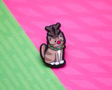 Rudolph Reindeer Cat - Christmas Acrylic Pin