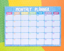 Blue Cats - Monthly Planner- Desk pad - Notepad