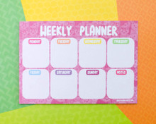 Pink Cats - Mini Weekly Planner- Desk pad - Notepad A5