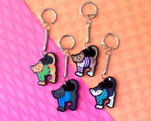 Sweater Cats - Chunky Acrylic Keyring