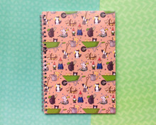 Gardening Cats - A5 Spiral-Bound Notebook