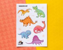 Dinosaur Cats Sticker Sheet