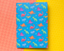 Dinosaur Cats Notebook - LINED