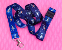 Astronaut Cats in Space - Lanyard  - with Safety Clip