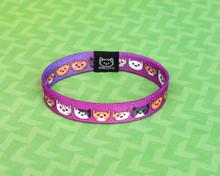 Doodlecats Elastic Bracelet - Purple