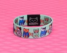 Doodlecats Elastic Bracelet - Medical Cats