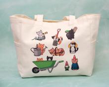 Gardening Cats Small Tote Bag