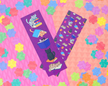 Book Cats Bookmarks x2