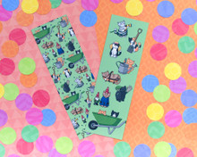 Gardening Cats Bookmarks x2