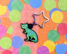 T-Rex Dinosaur Cat - Key Ring - ECO