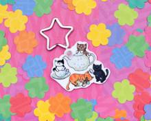 Tea Cats - Key Ring - ECO