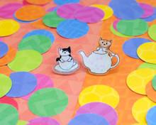 Tea Cats - Acrylic Pin Set of 2