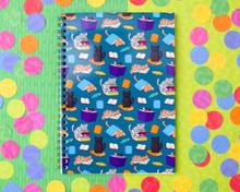 Book Cats - A5 Spiral-Bound Notebook
