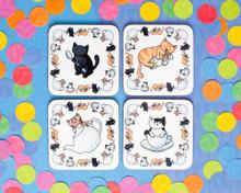 Tea Cat Coaster