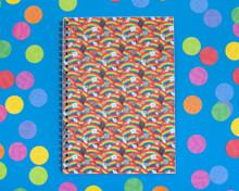 Rainbow Cats - A5 Spiral-Bound Notebook