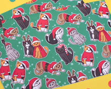 Recycled Christmas Cats Wrapping Paper