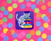 Book Cat - Coaster