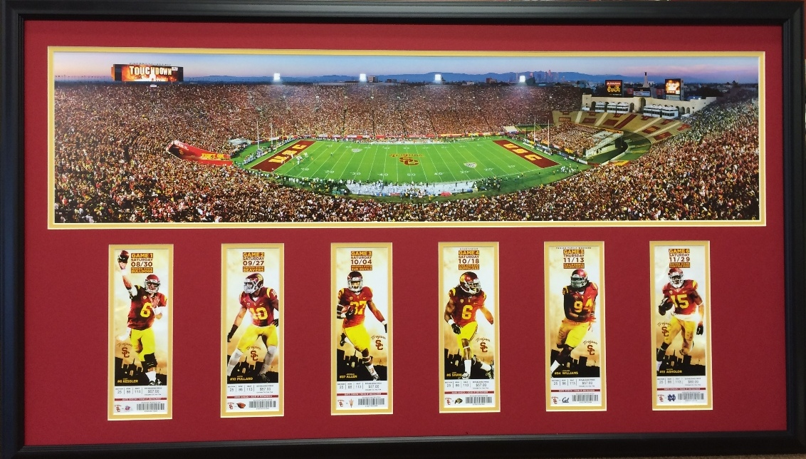 season ticket framing