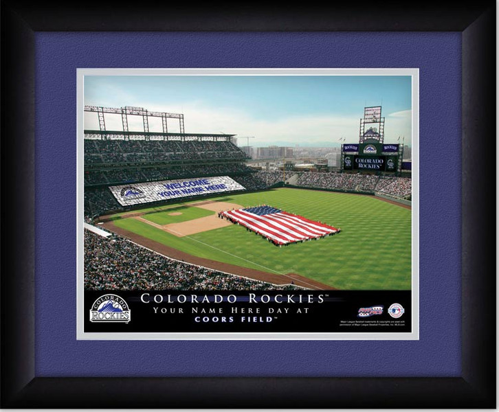 Rockies Personalized Sign Your Day at Coors Field