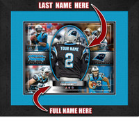 Personalized Carolina Panthers Action Collage