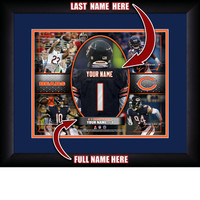 Personalized Chicago Bears Action Collage