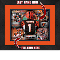 Personalized Cincinnati Bengals Action Collage
