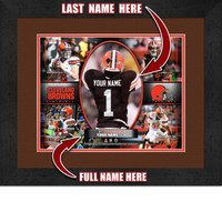 Personalized Cleveland Browns Action Collage