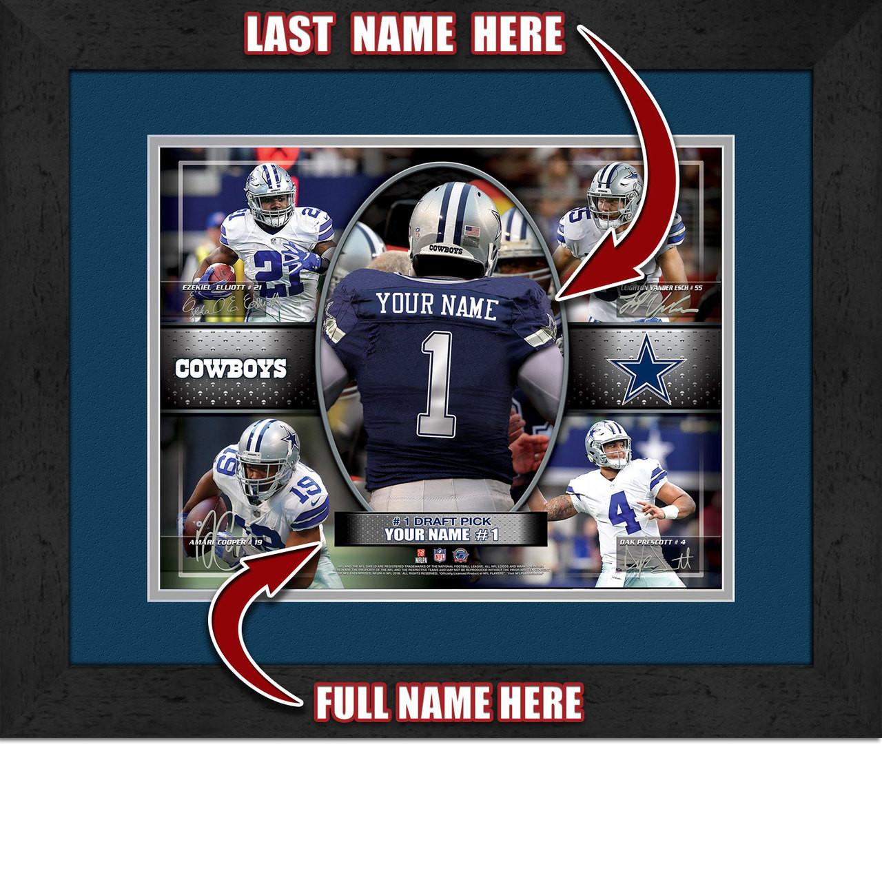 sale retailer 23e09 c08c7 Personalized Dallas Cowboys Action Collage