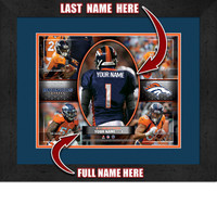 Personalized Denver Broncos Action Collage