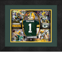 Personalized Green Bay Packers Action Collage