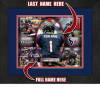 Personalized Houston Texans Action Collage