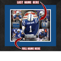 Personalized Indianapolis Colts Action Collage