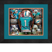 Personalized Miami Dolphins Action Collage