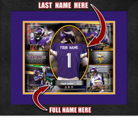 Personalized Minnesota Vikings Action Collage