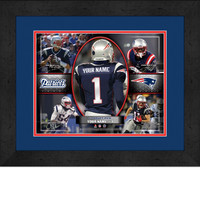 Personalized New England Patriots Action Collage