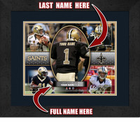 Personalized New Orleans Saints Action Collage