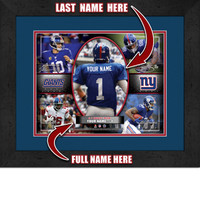 Personalized New York Giants Action Collage