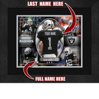 Personalized Oakland Raiders Action Collage