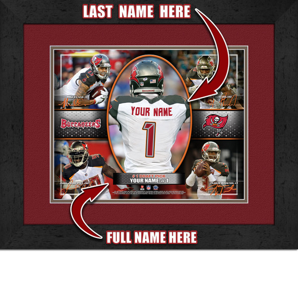 Personalized Tampa Bay Buccaneers Action Collage