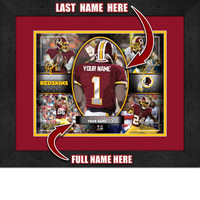 Personalized Washington Redskins Action Collage