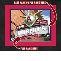 Los Angeles Angels Personalized Pub Room Sign