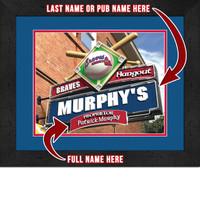 Atlanta Braves Personalized Pub Room Sign