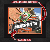 Baltimore Orioles Personalized Pub Room Sign